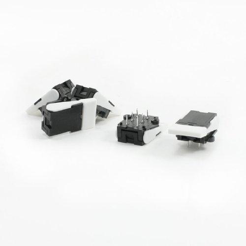uxcell 電話フックスイッチ 押しボタン式スイッチ 部品 5個 60V 0.2A プラスチック 長方形