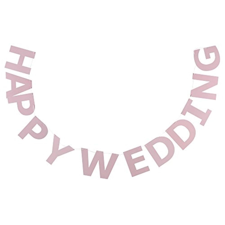 LEVNADSSATT HAPPY WEDDING 結婚パーティー ガーランド 2.5m ライトピンク 00346313