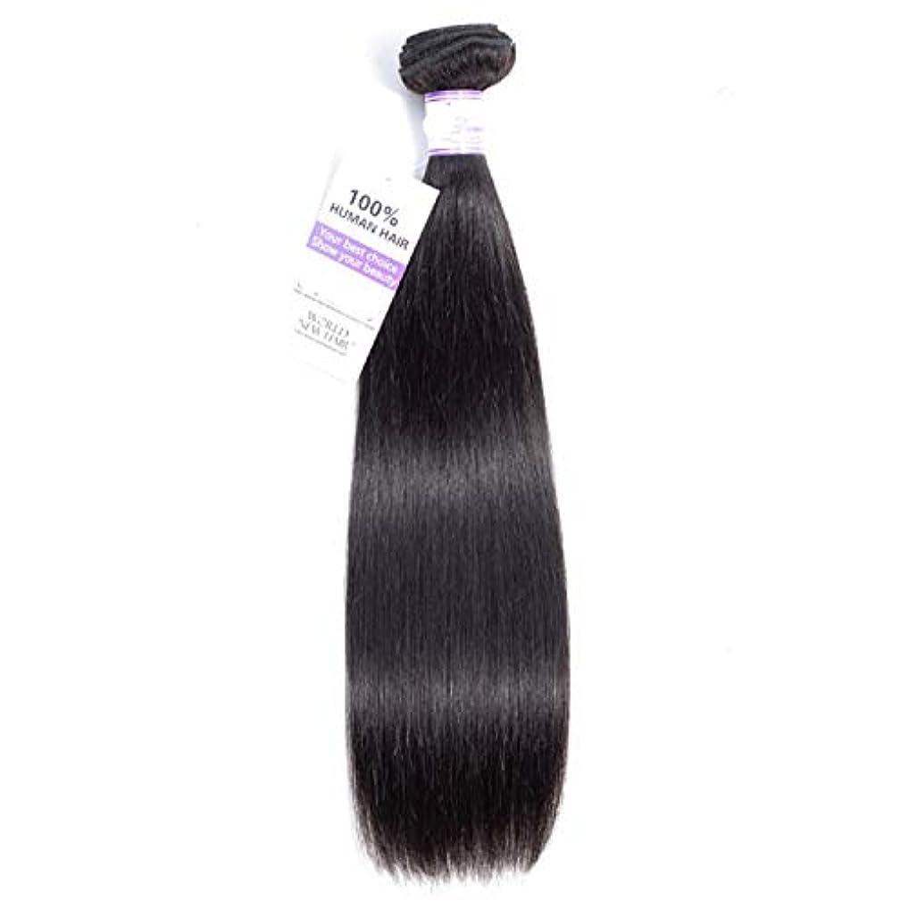 風刺恒久的不変かつら マレーシアのストレートヘアバンドル8-30インチ100%人毛織りナチュラルカラー非レミーヘアエクステンション1個 (Stretched Length : 8inches)