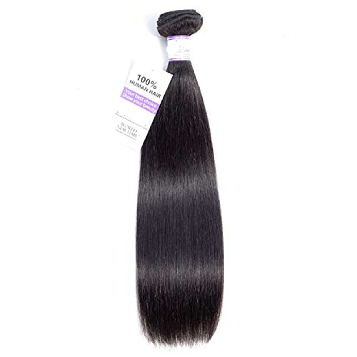スイ賛美歌有害ペルーのストレートヘアバンドル8-28インチ100%人毛織り非レミーヘアナチュラルカラー1個 (Stretched Length : 12inches)