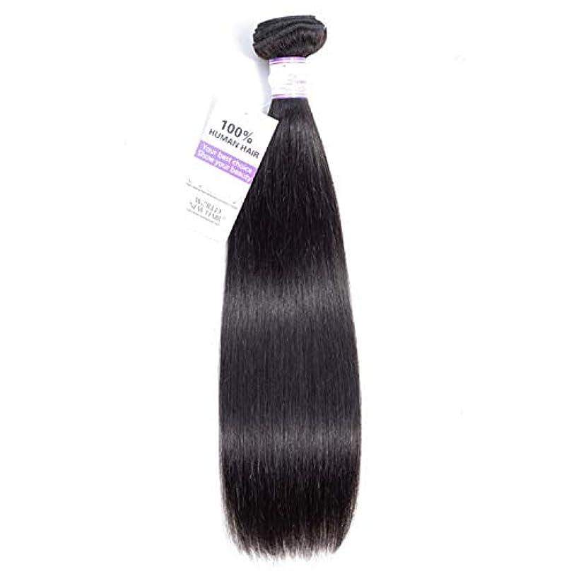 電子ヘルパーフィヨルドかつら ペルーのストレートヘアバンドル8-28インチ100%人毛織り非レミーヘアナチュラルカラー1個 (Stretched Length : 28inches)