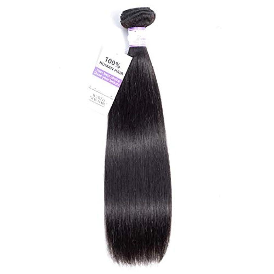 背の高い腐った自然公園かつら ペルーのストレートヘア織り髪バンドル8-28インチ100%人毛織り非レミー髪ナチュラルカラー1ピース (Stretched Length : 12inches)
