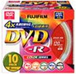 FUJIFILM VDR120CX10 M 4X A DVD-Rきれい録り 4倍速 ビデオ用 カラー10枚組