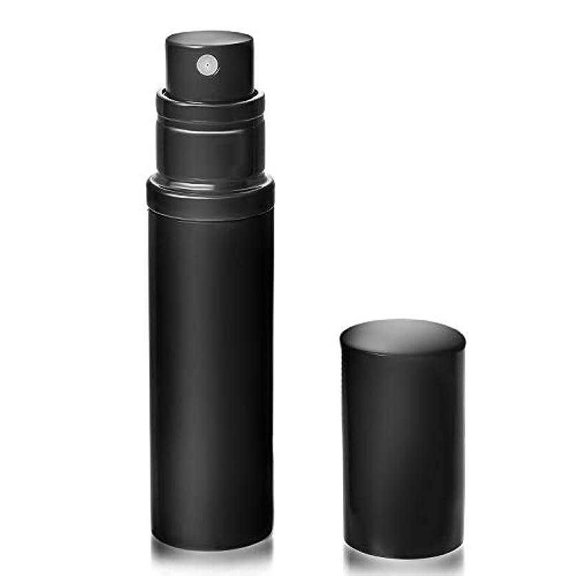 凶暴な幾何学無視するアトマイザ- 香水 クイックアトマイザー ワンタッチ 入れ物 簡単 持ち運び 詰め替え ポータブルクイック 容器 香水噴霧器 ブラック YOOMARO
