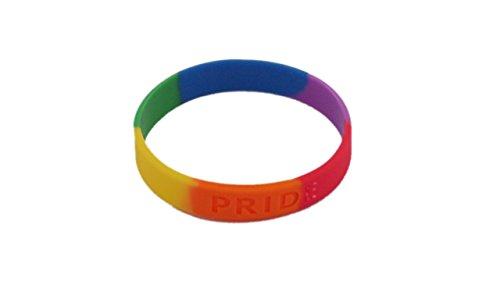 アウェアネスリボン【LGBT(性的少数者):レインボーリボン】シリコンブレスレット