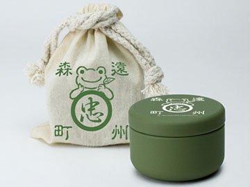 かえるのピクルス・ティーバッグ缶(巾着袋入り)緑茶「ティーバッグ緑茶×5個(缶入り)、巾着袋」