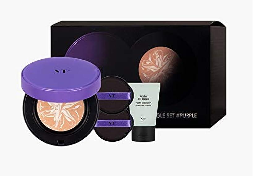 地球円形の配列VTコスメティックエッセンススキンファンデーションパクトパープル FOUNDATION PACT PURPLE 韓国の人気商品 メイクアップ Korean Womens Cosmetics