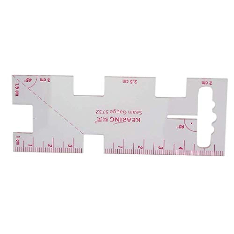 プラスチック縫製編みゲージメトリックルーラーシームゲージ測定ツールDIY縫製用の縫製アクセサリー