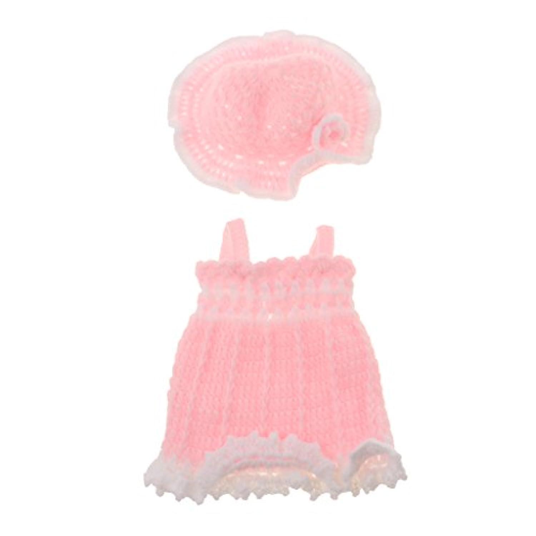 Baosity リボーンベビードールのため 10インチ-11インチ 赤ちゃん人形服スーツ ニットドレス 花帽子
