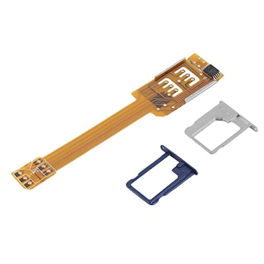 頑固な浮く可動Kongqiabonaイエロー耐久性のある携帯電話ダブル二重SIMカードアダプタサムスンのための2つのSIMを使用するあなたのSIMカードをカットする必要はありません