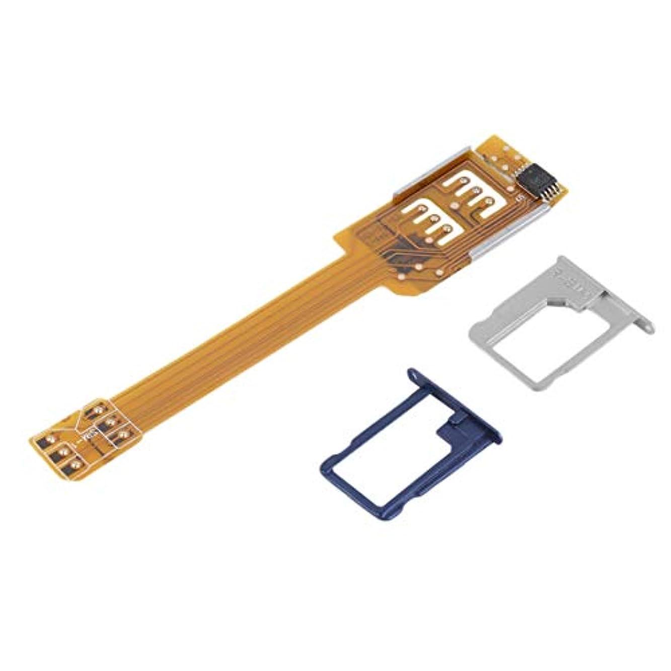 ペンブロッサム虐殺Kongqiabonaイエロー耐久性のある携帯電話ダブル二重SIMカードアダプタサムスンのための2つのSIMを使用するあなたのSIMカードをカットする必要はありません