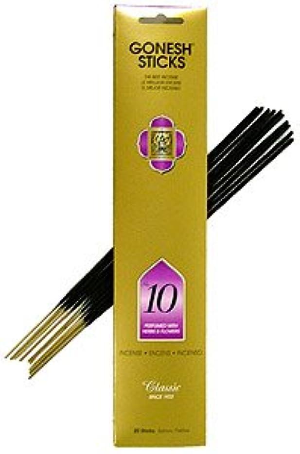 二度とは異なり使い込むGonesh ~ Incense Sticks ~ Pack of 4 ~ No。10 ( Perfumed With Herbs &花)