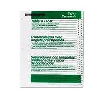 Office Essentials Table 'N Tabs Dividers, 31-Tab, 1-31, Letter, White, 1 Set (並行輸入品)