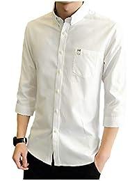 [パリド] 襟つき 七分袖 ワイシャツ 無地 シャツ シンプル yシャツ 7分袖 M ~ 4XL メンズ