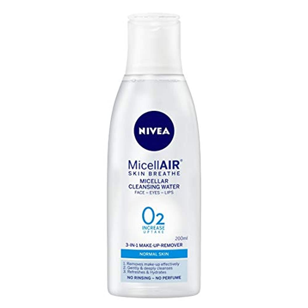 用語集良心的甲虫NIVEA Micellar Cleansing Water, MicellAIR Skin Breathe Make Up Remover, 200ml