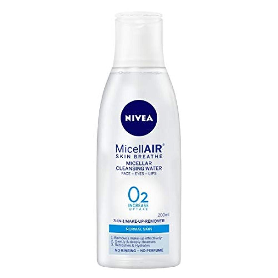 即席順番不適当NIVEA Micellar Cleansing Water, MicellAIR Skin Breathe Make Up Remover, 200ml