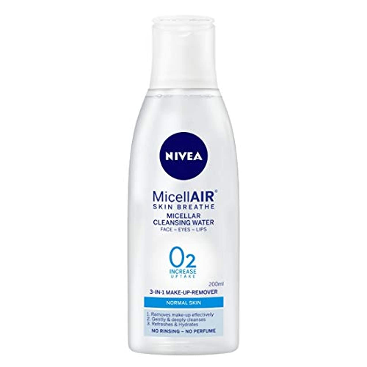 代理人お手入れ音声学NIVEA Micellar Cleansing Water, MicellAIR Skin Breathe Make Up Remover, 200ml