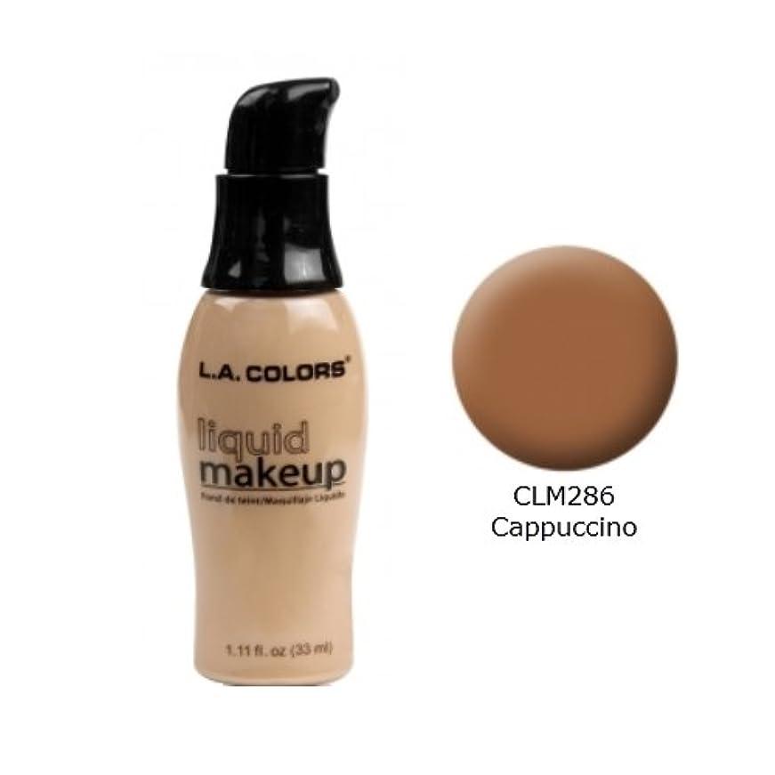破壊する出くわす傾向がある(6 Pack) LA COLORS Liquid Makeup - Cappuccino (並行輸入品)