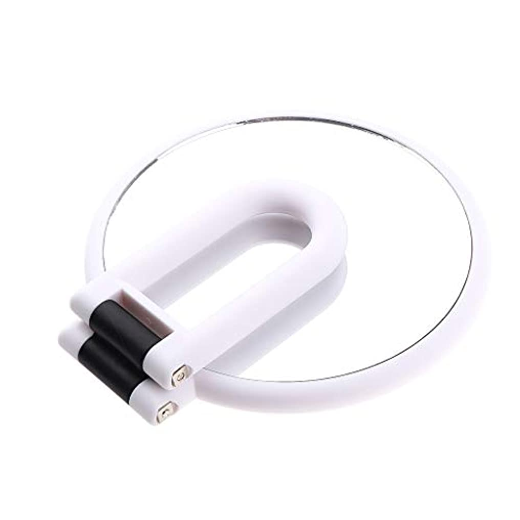 百万機密プラットフォーム化粧鏡 ラウンド ハンドヘルド 両面化粧鏡 拡大鏡 5仕様選べ - 5倍