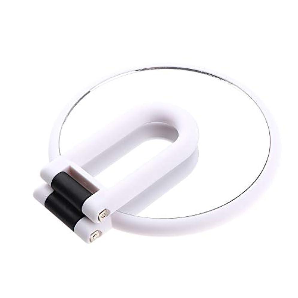 規則性扱いやすい発表する化粧鏡 ラウンド ハンドヘルド 両面化粧鏡 拡大鏡 5仕様選べ - 5倍