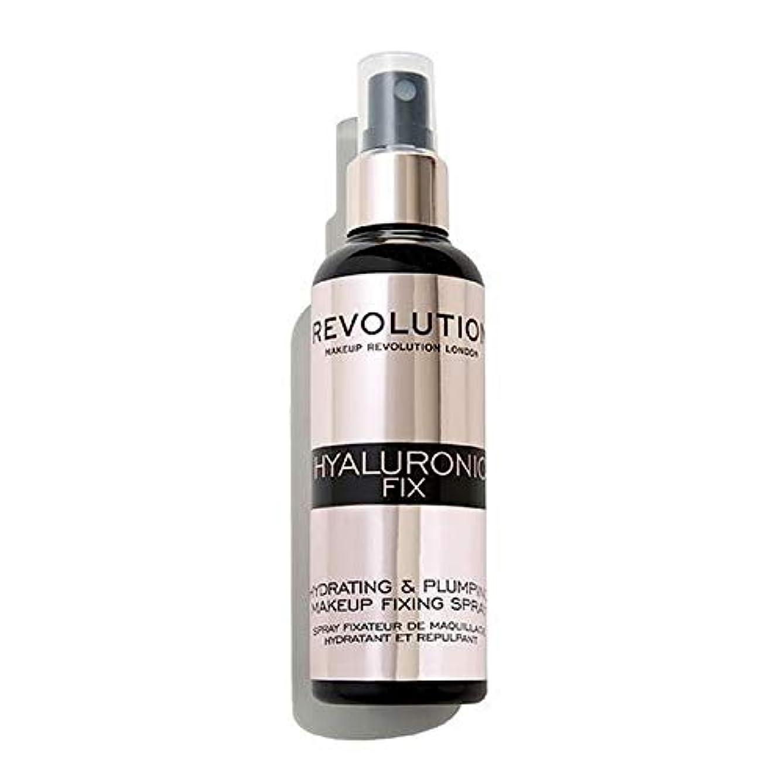 武装解除カラスやがて[Revolution ] 化粧革命ヒアルロン固定スプレー - Makeup Revolution Hyaluronic Fixing Spray [並行輸入品]