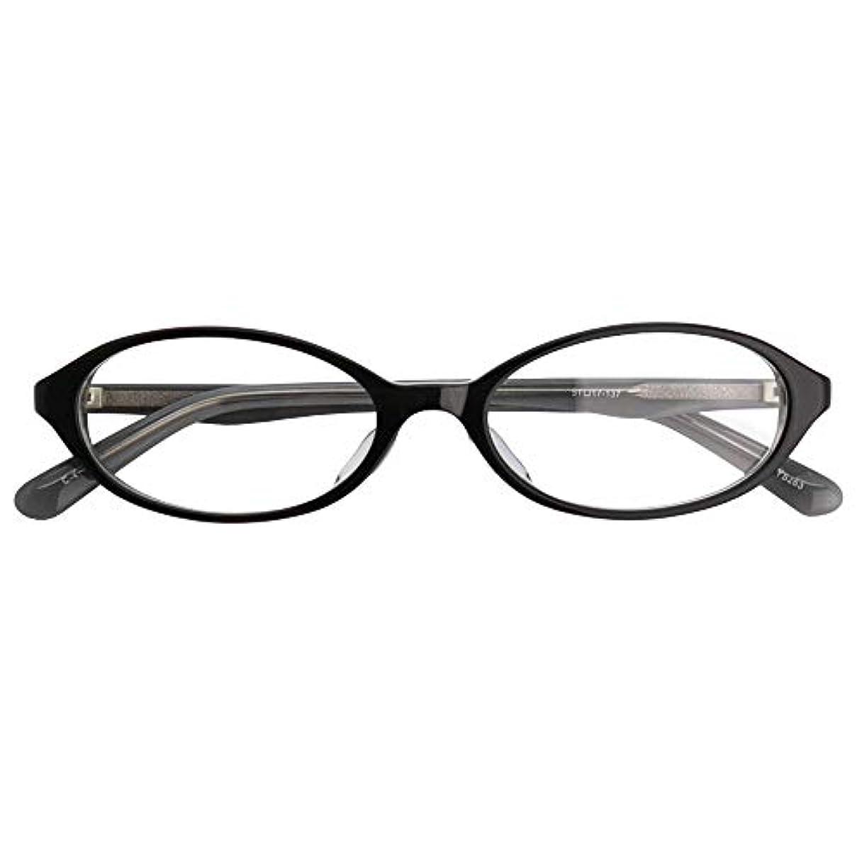 SHOWA (RSN) ネオンカラー 遠近両用 メガネ (ブラック) (レディース セット) 全額返金保証 老眼鏡 リーディンググラス 眼鏡 (瞳孔距離:57mm~59mm, 近くを見る度数:+2.5)