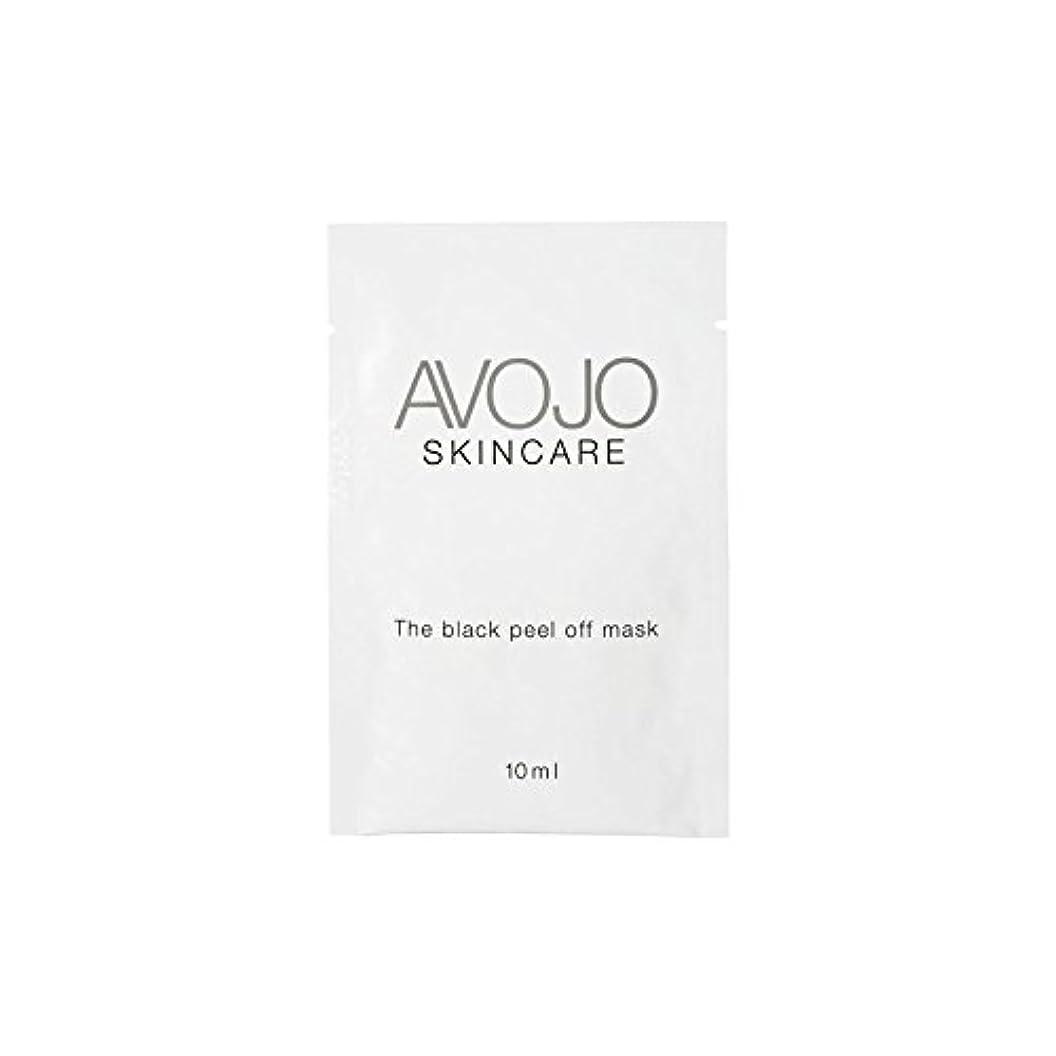 アルバニー有毒な系統的- ブラックピールオフマスク - 小袋(10ミリリットル×4) x2 - Avojo - The Black Peel Off Mask - Sachet (10ml X 4) (Pack of 2) [並行輸入品]