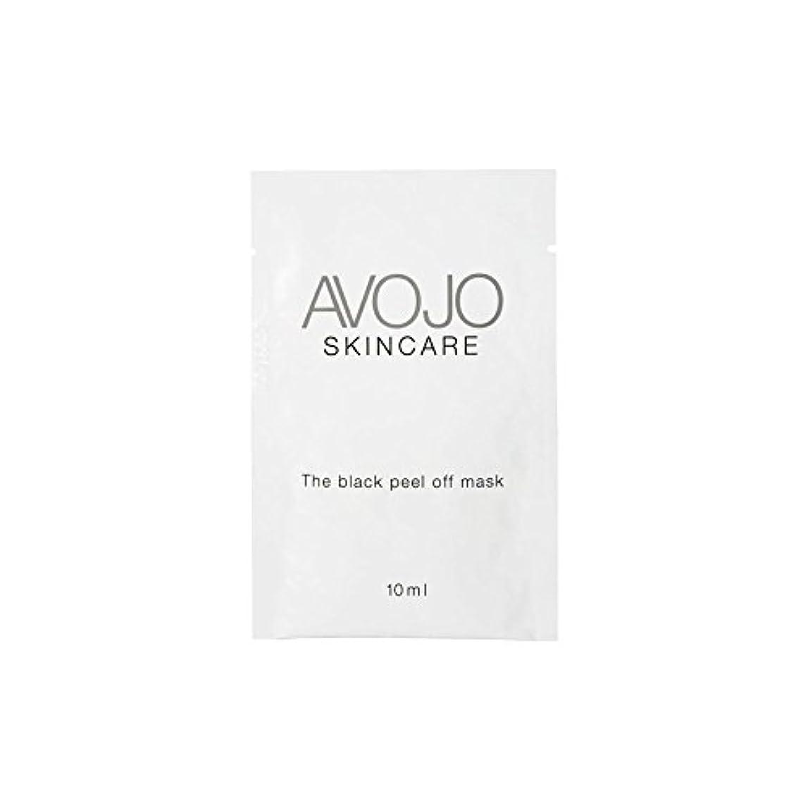 悪行見捨てられた不要- ブラックピールオフマスク - 小袋(10ミリリットル×4) x4 - Avojo - The Black Peel Off Mask - Sachet (10ml X 4) (Pack of 4) [並行輸入品]