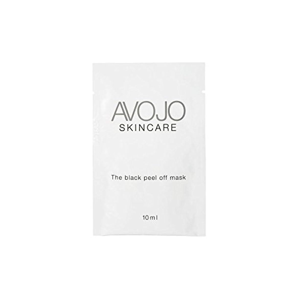 出口マスクサイトライン- ブラックピールオフマスク - 小袋(10ミリリットル×4) x4 - Avojo - The Black Peel Off Mask - Sachet (10ml X 4) (Pack of 4) [並行輸入品]