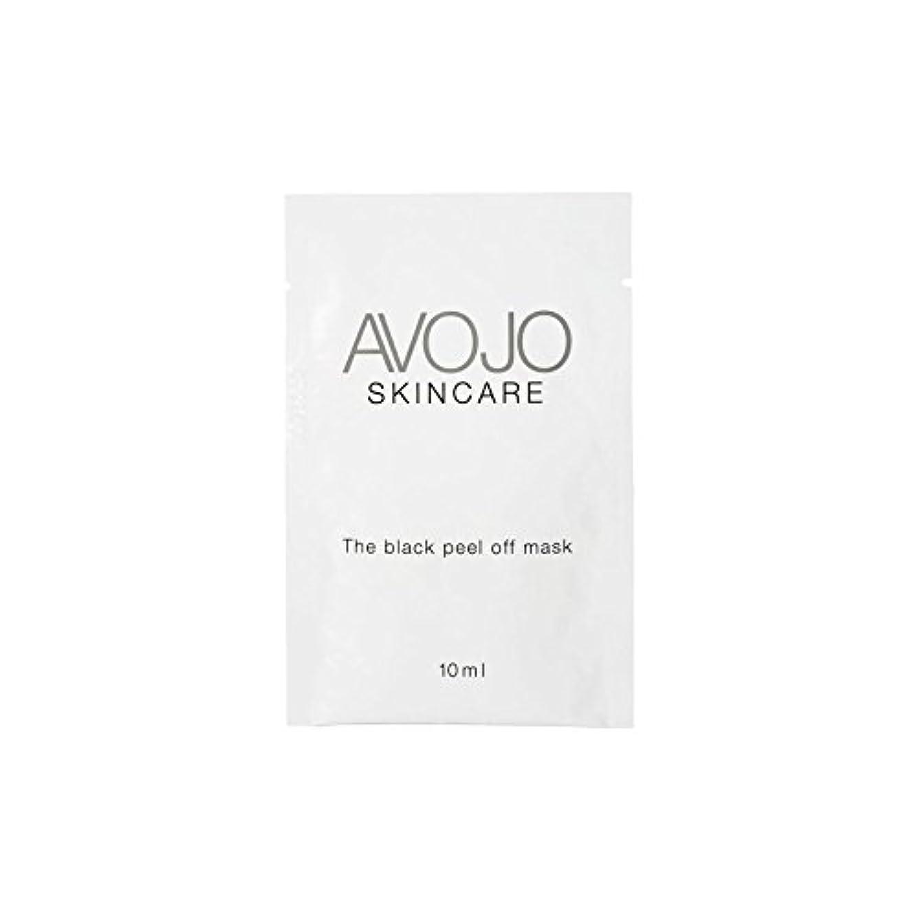 送料ここにひどい- ブラックピールオフマスク - 小袋(10ミリリットル×4) x4 - Avojo - The Black Peel Off Mask - Sachet (10ml X 4) (Pack of 4) [並行輸入品]
