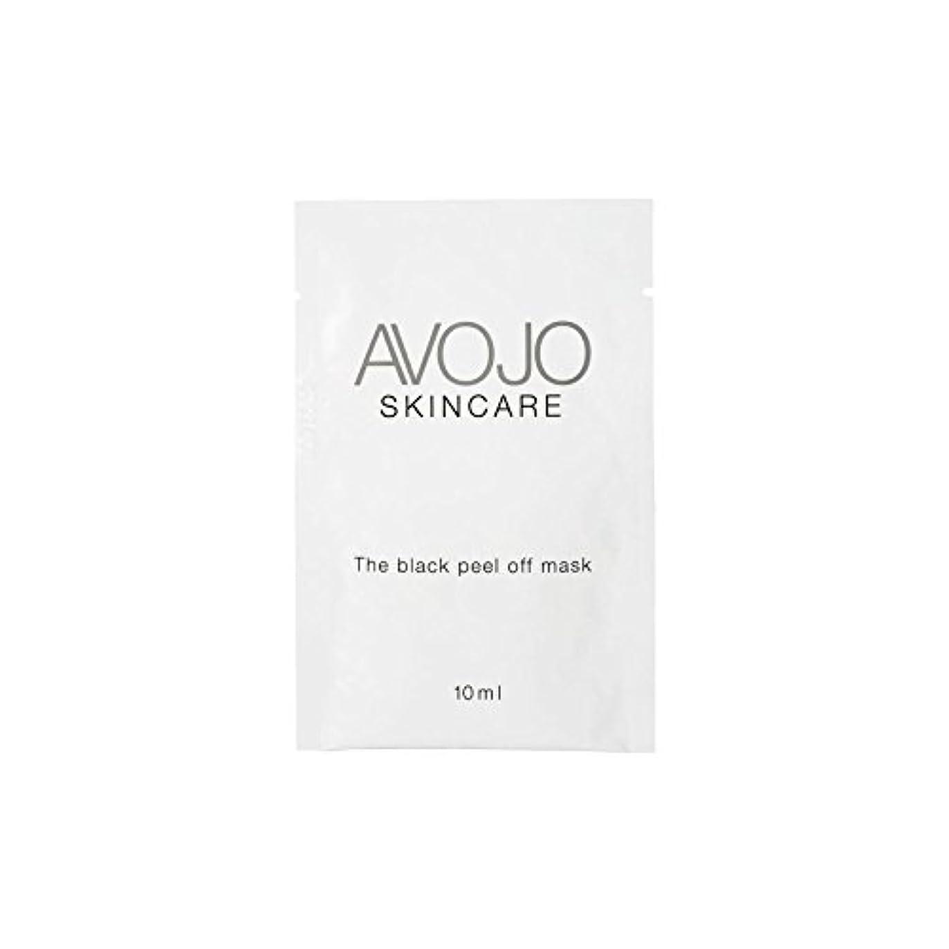 後方にコンドーム破壊的Avojo - The Black Peel Off Mask - Sachet (10ml X 4) - - ブラックピールオフマスク - 小袋(10ミリリットル×4) [並行輸入品]