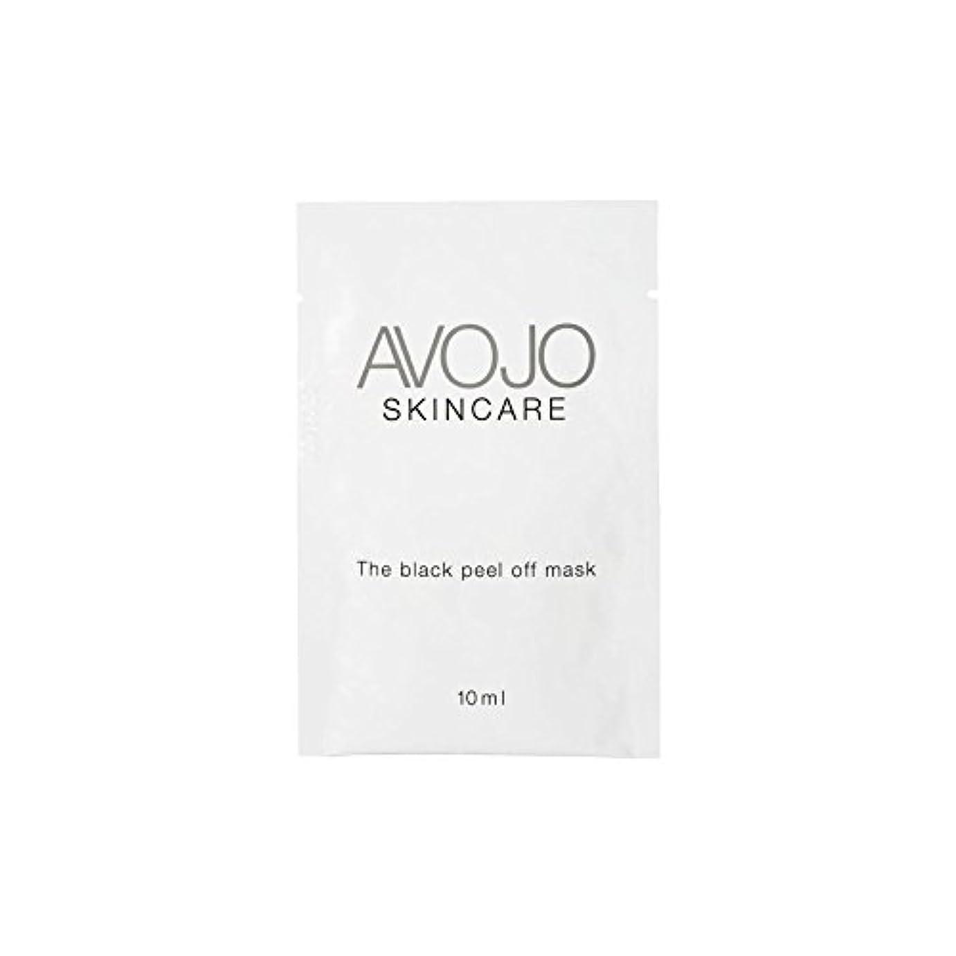 - ブラックピールオフマスク - 小袋(10ミリリットル×4) x4 - Avojo - The Black Peel Off Mask - Sachet (10ml X 4) (Pack of 4) [並行輸入品]