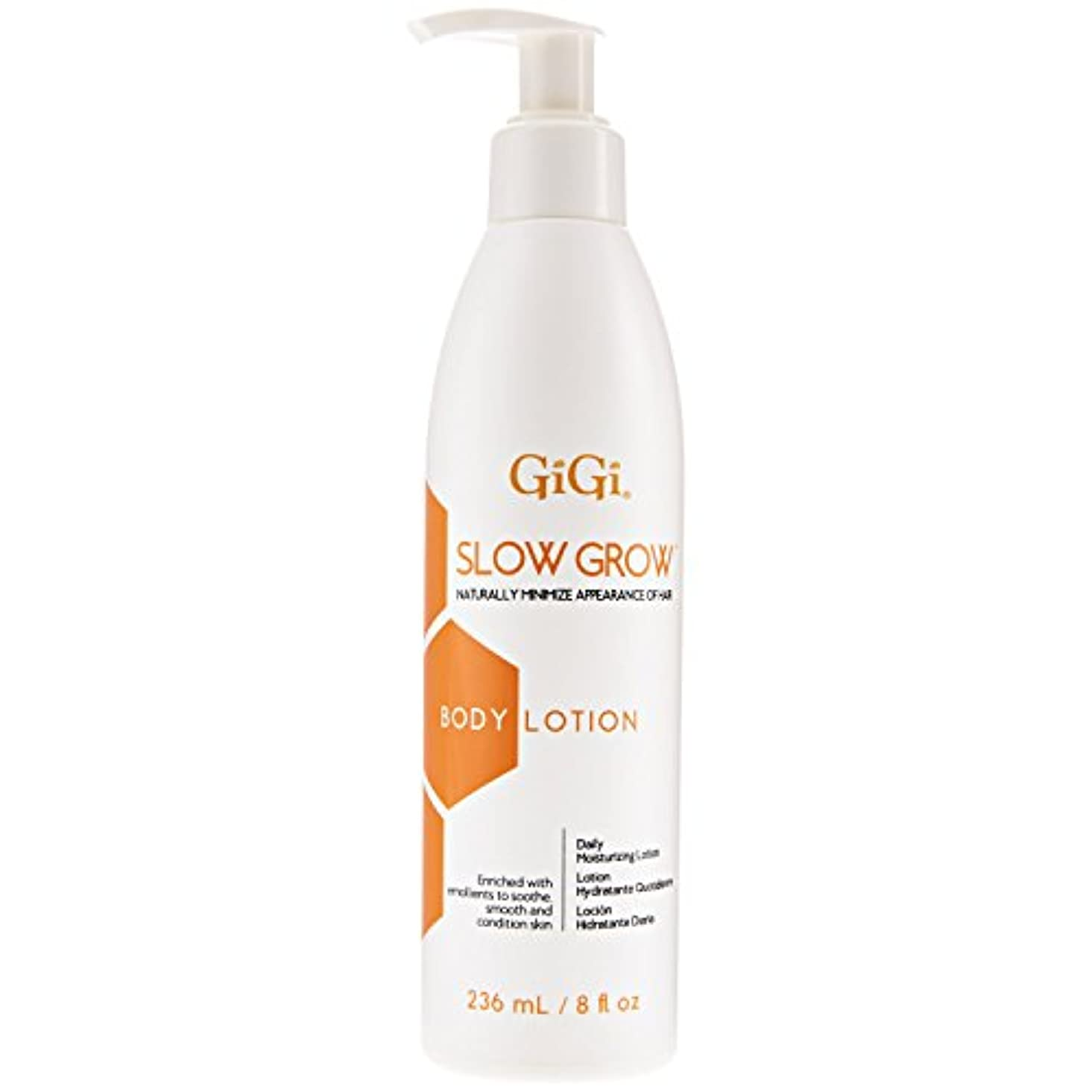 オーロックビジュアル友情GiGi スロー髪阻害デイリーモイスチャライジングボディローション、8オンスを成長させます 8オンス
