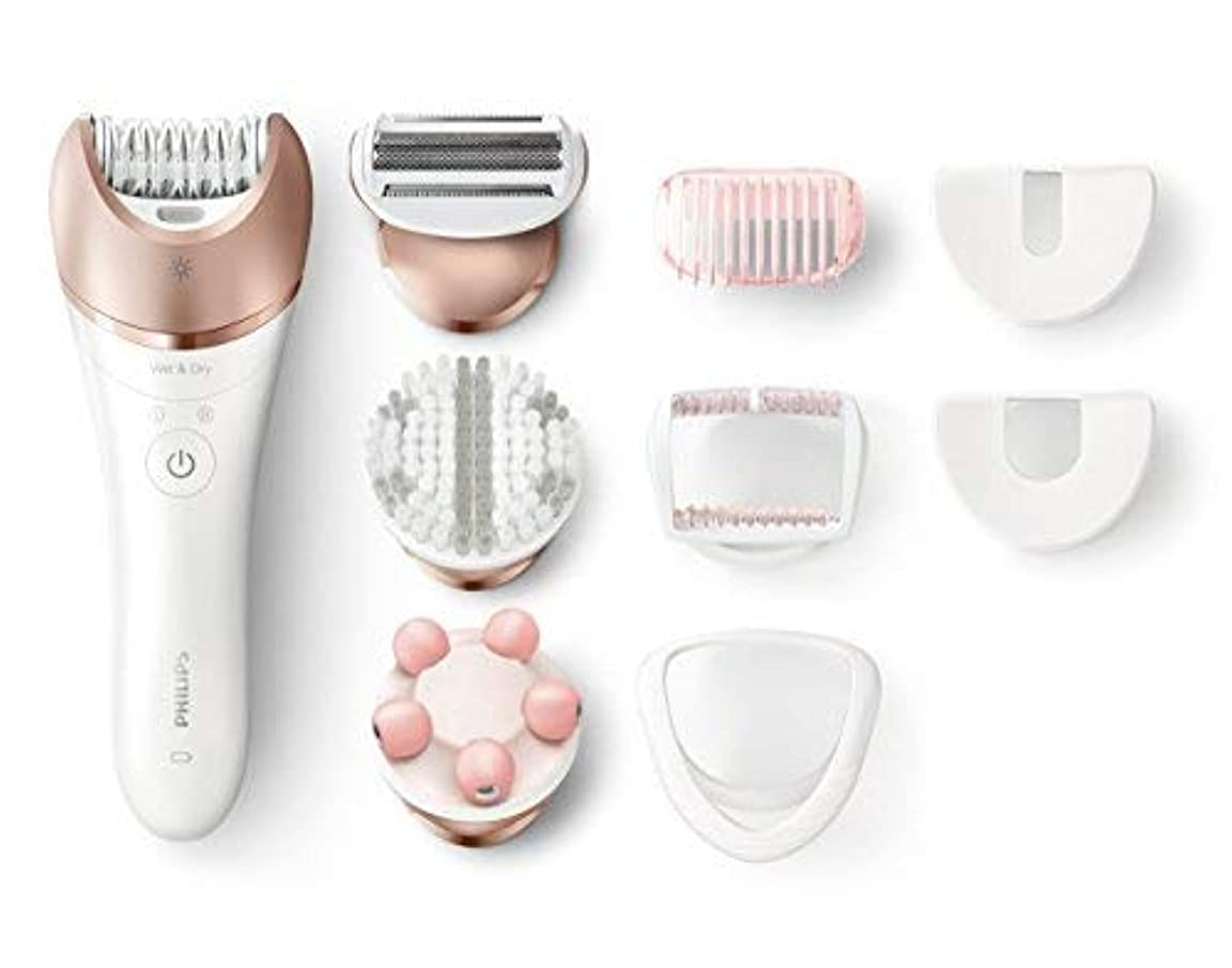 クルー刈る一月Philips Satinelle Prestige Epilator Wet & Dry Electric Hair Removal Body Exfoliation and Massage (BRE648) [並行輸入品]