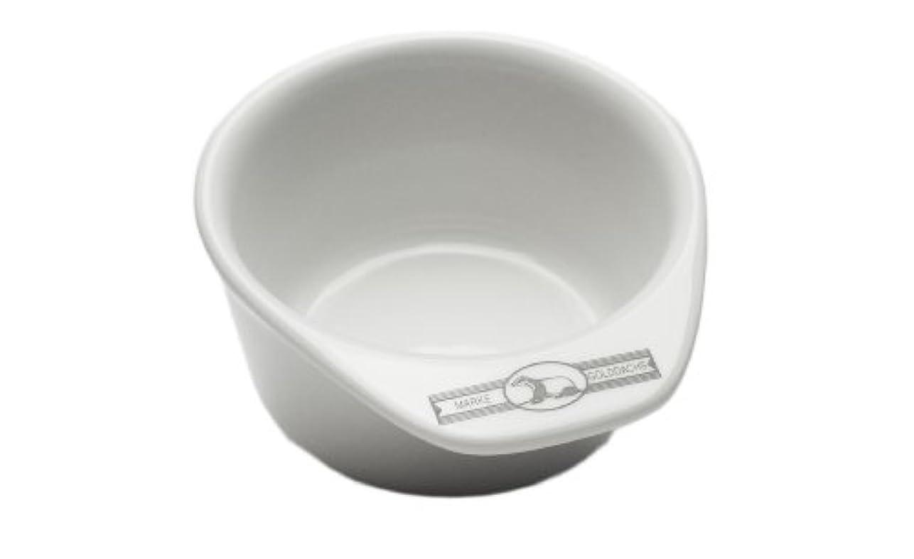 満たす眠る開始Golddachs shaving pot, Porcelain with handle