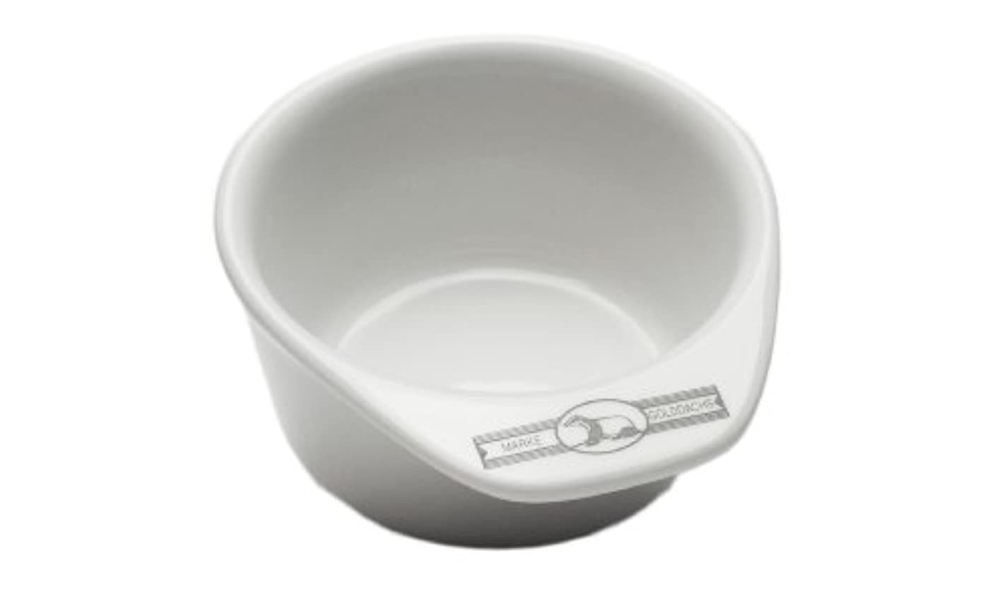 特異性暗くするスマッシュGolddachs shaving pot, Porcelain with handle