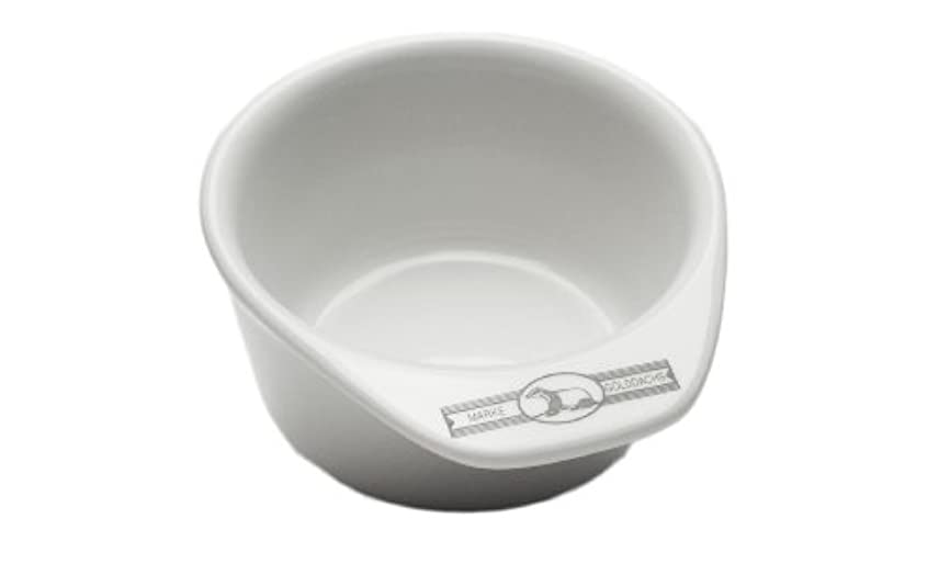 個人海港麻痺Golddachs shaving pot, Porcelain with handle