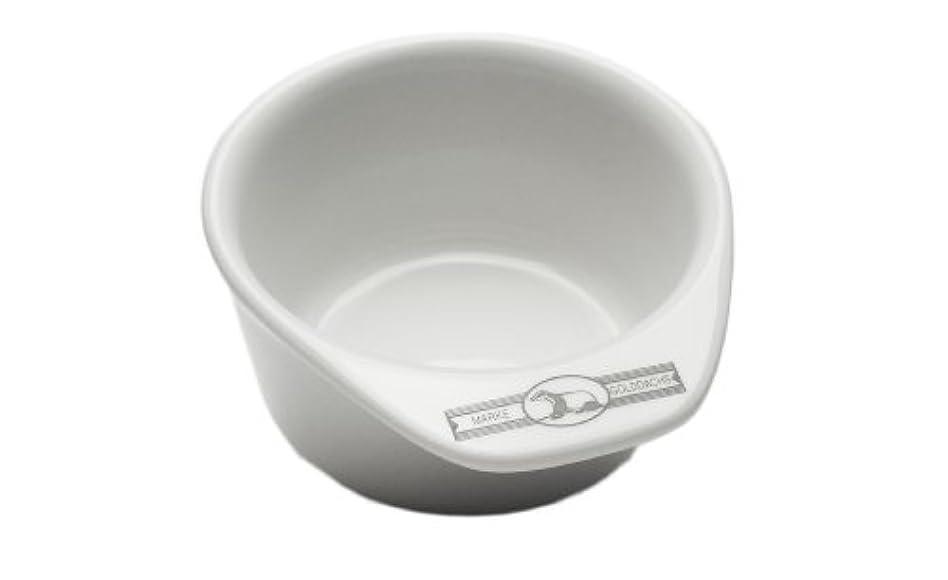 池ビーチ織るGolddachs shaving pot, Porcelain with handle