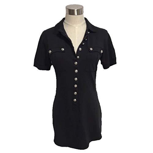 BALMAIN バルマン エンブレムボタン 半袖 ポロシャツ 34 ブラック 黒