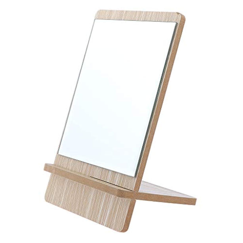 リーフレット航空早い化粧鏡 スタンド 卓上 メイクアップミラー 立てミラー バニティミラー 折りたたみ 3サイズ選べ - 大