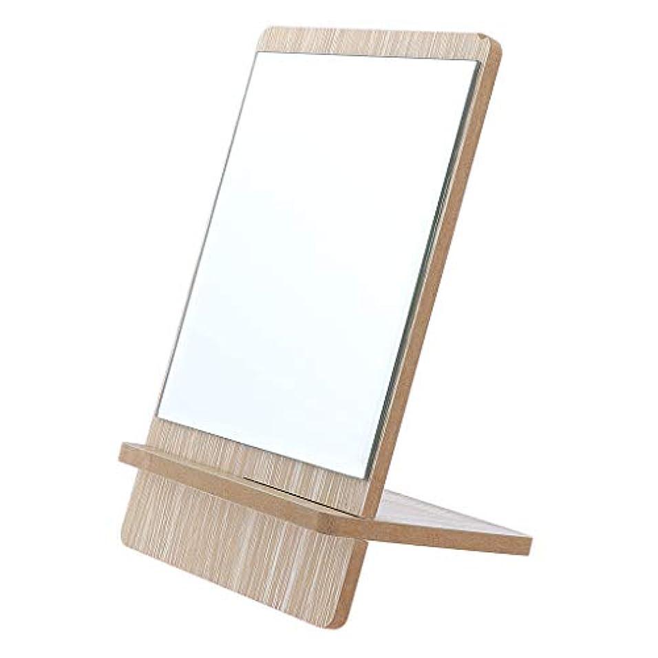 救出安全ななかなか化粧鏡 スタンド 卓上 メイクアップミラー 立てミラー バニティミラー 折りたたみ 3サイズ選べ - 大