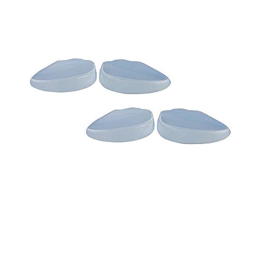 高原ツーリストフォルダ透明 足底筋膜炎 衝撃吸収クッション シリコンかかと 2足4枚セット