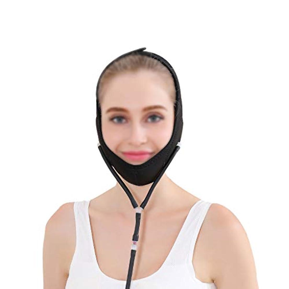 衰えるハンサム交通GLJJQMY 表面持ち上がる包帯の膨脹可能な圧力回復マスク持ち上がる張力包帯は二重あごを減らします 顔用整形マスク