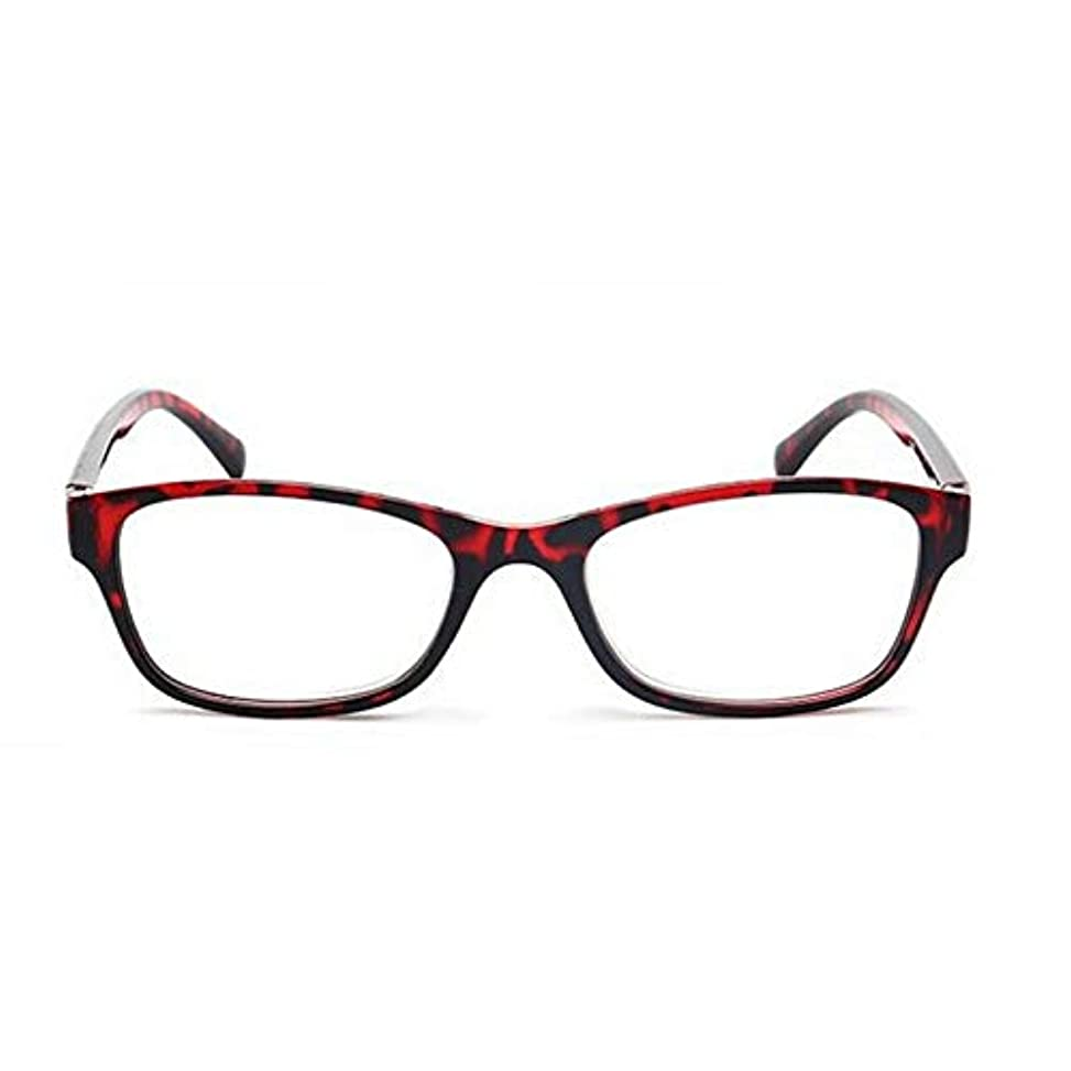 FidgetGear 老眼鏡眼鏡リーダーメンズペイン4.0コンピュータ樹脂レンズ 赤