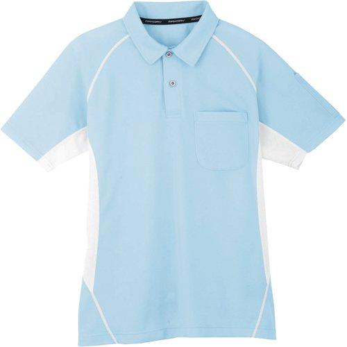 コーコス コーコス 半袖ポロシャツ 7サックス L MX7077L