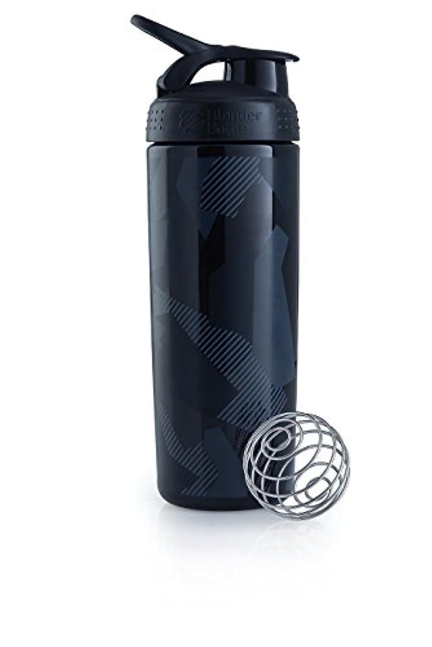 下に向けます金属線形ブレンダーボトル 【日本正規品】 ミキサー シェーカー ボトル Sports Mixer 28オンス (800ml) スレートブラック BBSMSL28 SLBK
