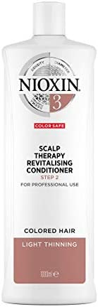Nioxin System 3 Scalp Therapy Revitalising Conditioner for Coloured Hair with Light Thinning, 1L