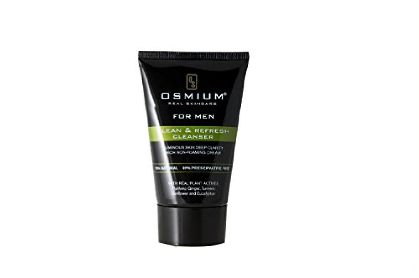 ボールロデオ下向きOsmium Clean & Refresh Face Wash 120ml, Natural, London,Osmium 天然成分配合 洗顔ソープ 清潔、爽やか ロンドン製 [並行輸入品]