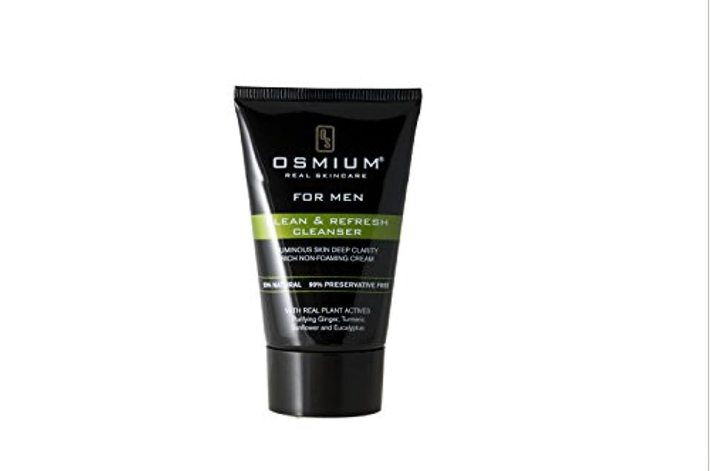 ノート悪用うんOsmium Clean & Refresh Face Wash 120ml, Natural, London,Osmium 天然成分配合 洗顔ソープ 清潔、爽やか ロンドン製 [並行輸入品]