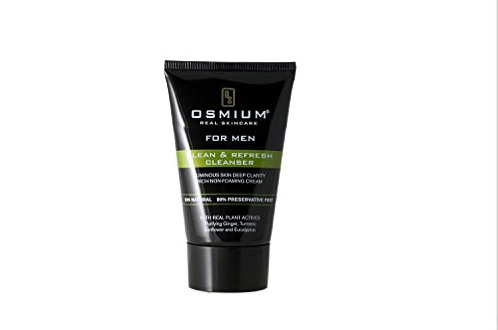 ジョグ出力後Osmium Clean & Refresh Face Wash 120ml, Natural, London,Osmium 天然成分配合 洗顔ソープ 清潔、爽やか ロンドン製 [並行輸入品]